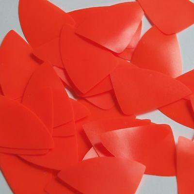 Teardrop Sequin 1.5 Orange Blaze Opaque Fluorescent Vinyl Loose Couture Paillettes