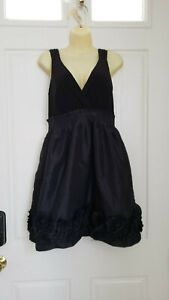 MAX & CLEO Black Ruffle Homecoming Cocktail Lined Dress SZ/8 Gently Worn!