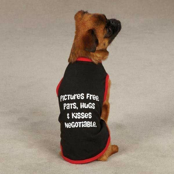 Casual Canine Pictures Free Tank Top for Dog Puppy Black