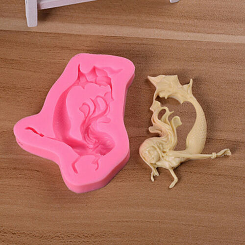 Mermaid Swimming Silicone Mold Candy Fondant Cake Choclate Decorating GNCA