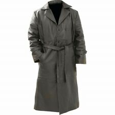 Rocky Mountain Hides Solid Genuine Buffalo Leather Trench Coat ...