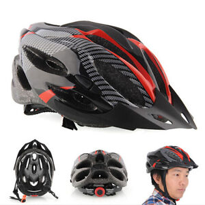 New-Cycling-Adult-Men-039-s-Bike-Bicycle-Carbon-Helmets-Protective-Gear-with-Visor
