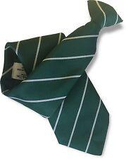 VERDE Bottiglia Da Uomo Clip per Cravatta Clipper con strette righe bianche