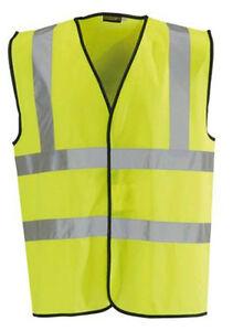 5 x Blackrock Yellow Hi Vis Vest High Viz Visibility Waistcoat Safety (80300)