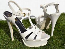 YSL Saint Laurent Tribute T-Strap Platform Sandals Pumps Size 38.5 / 8.5 $895