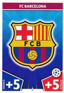 FC BARCELONA, TEAM BADGE/LOGO CARD, 2017/18 CHAMPIONS LEAGUE, MATCH ATTAX, RARE. - eBay