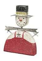 Primitives By Kathy Snowman Sitter Fat Boy Free Shipping