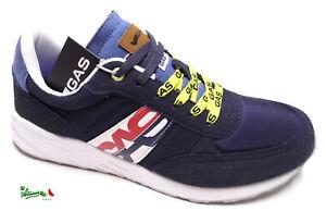 GAS OLES NYX scarpe sportive uomo sneakers lacci casual sportswear Blu Deep