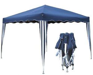 alu faltpavillon 3x3 m blau pavillon ebay. Black Bedroom Furniture Sets. Home Design Ideas