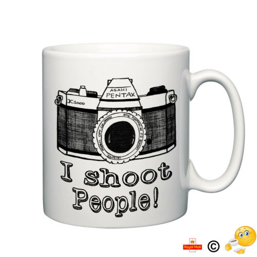 I Shoot people novelty camera mug coffee photo picture  photography gift