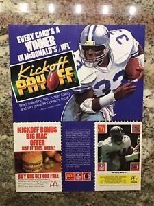 Randy White, Dallas Cowboys, McDonald's and Coca Cola ad with football card