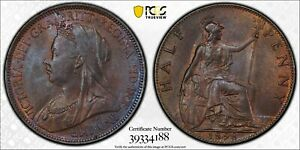 PCGS-MS-63-GREAT-BRITAIN-HALFPENNY-1-2-PENNY-1898-WITH-SOME-RED
