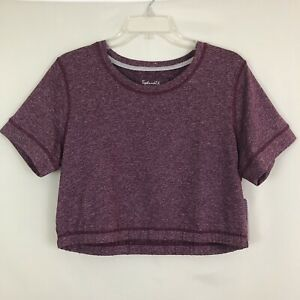 Splendid-Purple-Short-Sleeve-Crop-Top-Size-XL-NWT