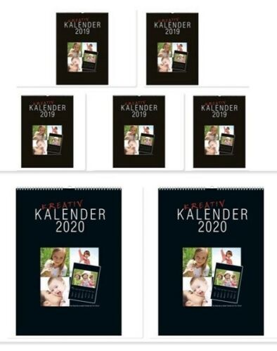Fotokalender Bastelkalender 2020 in DIN A5 für Bilder bis Größe 10x15 cm