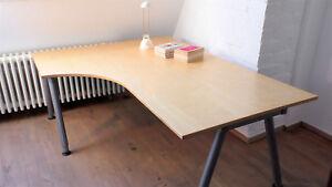 Ikea Schreibtisch Glasplatte : ikea galant schreibtisch eckschreibtisch birke 120x160cm h henverstellbar ebay ~ Watch28wear.com Haus und Dekorationen