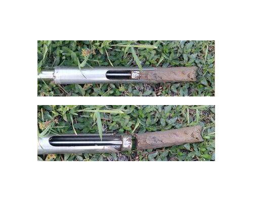 Soil Probe Sampler with Sample Ejector Stainless Steel Gator Probe Step Tube