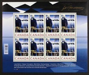 CANADA-2219-2007-Captain-Vancouver-Souvenir-Sheet-8-stamps-Mint-NH