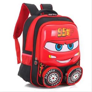 d6f13a0b53b Details about Disney Cars Lightning McQueen Shaped Toddler Kids Backpack  Red Blue School Boys