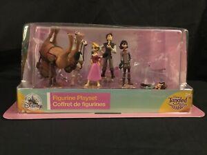 Disney Tangled Rapunzel Pascal 7 Piece Figurine Set Cake Topper Loose