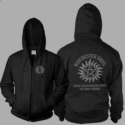 Supernatural Winchester Bros Hoodie Hooded Sweater Anti-Possession Symbol Jacket