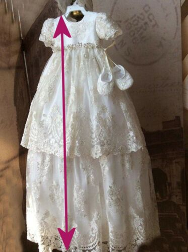 BABY CHRISTENING PETTICOAT BAPTISM GOWN DRESS LONG UNDERSKIRT all lengths