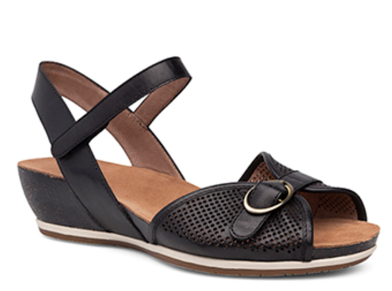 Dansko VANNA nero Leather Ankle Strap Strap Strap Buckle Sandals Sz 41   US 10.5   11 NEW b7d381