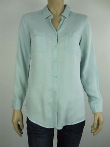 Katies-Ladies-Long-Sleeve-Casual-Button-Down-Shirt-sizes-8-10-12-14-16-Mint-Blue
