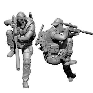 1-35-Pesante-Trooper-Anteriore-soldier-stand-Resin-Unpainted-E5T5-Kit-Model-H0X4