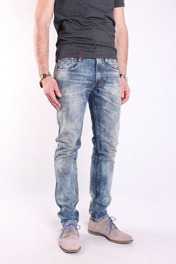 REPLAY m914q 946 547 010 ANBASS, Uomo Uomo Uomo Jeans, Pantaloni, Denim, Blu, trousers 2403f0