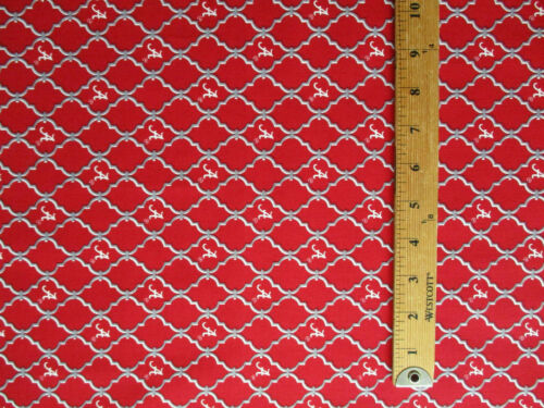 ALABAMA CRIMSON TIDE UNIVERSITY A PATTERN COTTON FABRIC BTHY