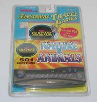 Tiger Electronic Travel Games Quiz Wiz Nature & Animals Sealed