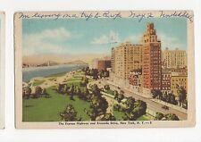 USA, New York, The Express Highway & Riverside Drive 1958 Postcard, A560