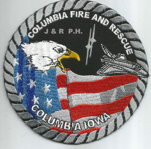 "4/"" round size Columbia  Fire Iowa Rescue fire patch"