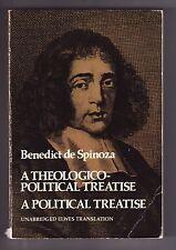 A THEOLOGICO-POLITICAL TREATISE, Benedict de Spinoza (Dover-1951) PB
