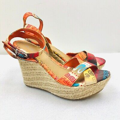 Aztec Wedge Heels