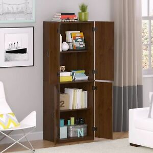 Ordinaire Kitchen Pantry Storage Cabinet White 4 Door Shelves Wood Organizer Furniture