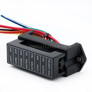 fuse holder box 8 way car vehicle circuit automotive blade fuse box rh ebay com Fuse Box Diagram Auto Fuse Box Circuit