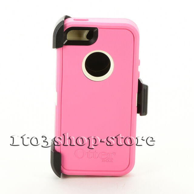 OtterBox Defender iPhone 5 5s iPhone SE Hard Case w/Holster Clip Pink White