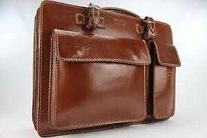 Business- und Laptoptaschen Luxus Aktentasche Braun L