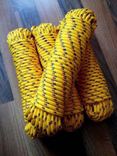Nr.22 Gelbes Reep 6 mm,30mTauwerk,Vielzweckseil,Bootsseil,Seil,Leine,Reepschnur