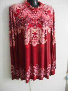 SO2KI10#3820 Alfredo Pauly Tunika/Kleid, rot mit schonen Ornamenten, gr.38/40