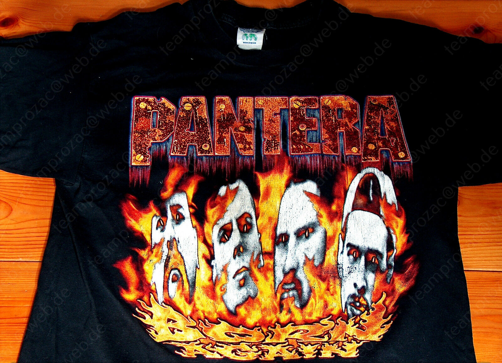 PANTERA - 1994 BORN AGAIN Tour Shirt L - DIMEBAG - ANSELMO - TYPE O NEGATIVE