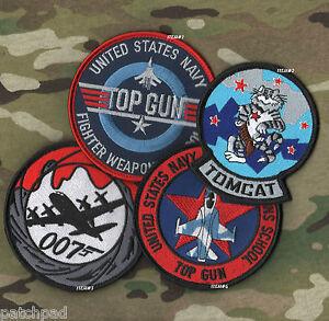 TOP GUN SCHOOL RED TEAM F-14 TOMCAT F-5E FLIGHT SUIT VeIcrô SSI SET: #1+#2+#4