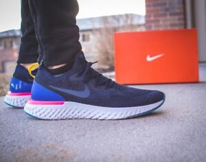 Blue Nike React Size 10 Navy 5 Pink Uk Blast Epic Racer College A0qwHfA