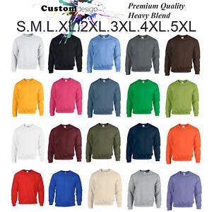 Heavy-Blend-Blank-Plain-Basic-Sweat-Sweater-Jumper-Sweatshirt-Fleece-S-5XL