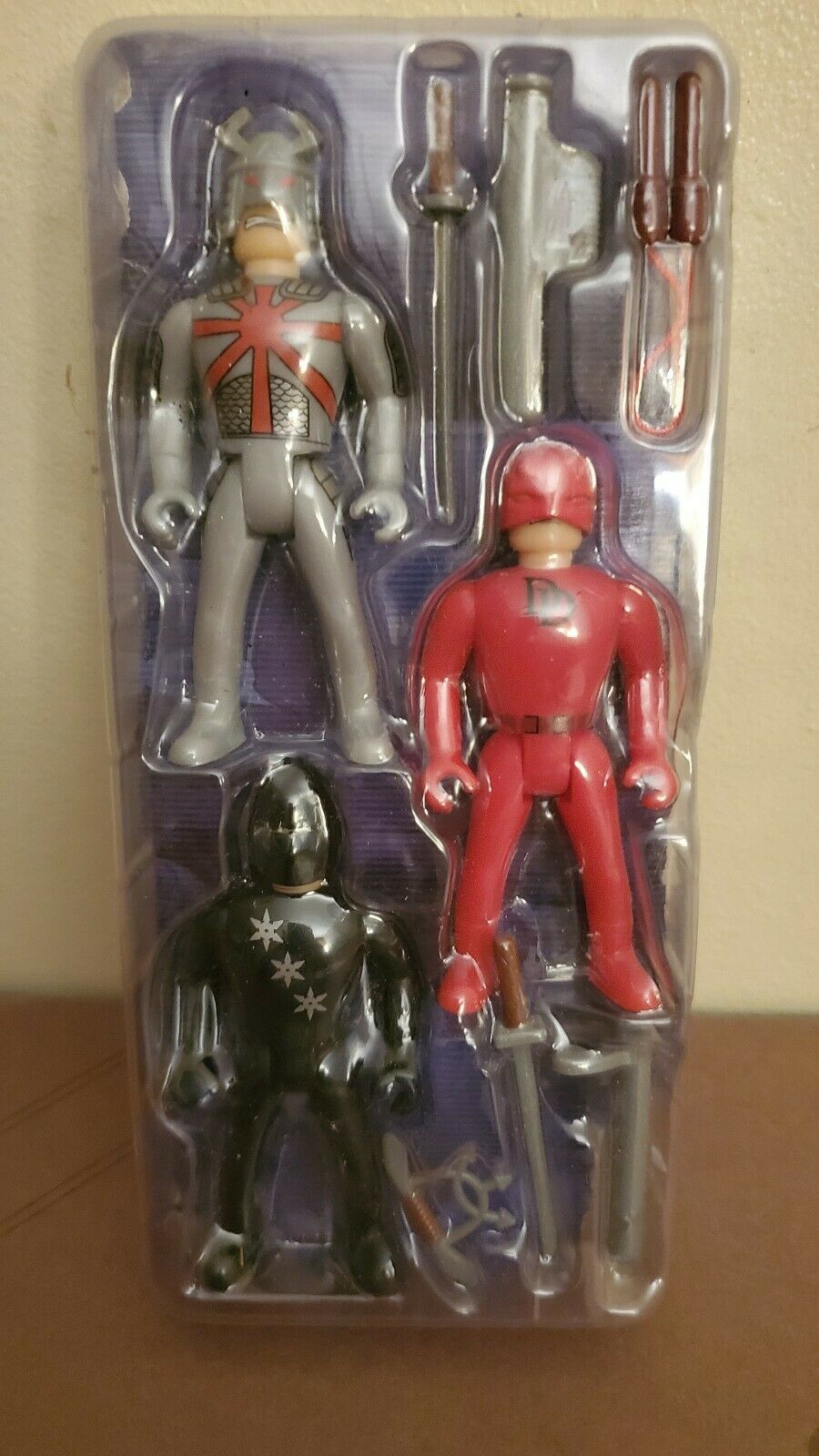 Very Rare Famusa Marvel World Darotevil, Ninja, Silber Samurai 3.75  Figures