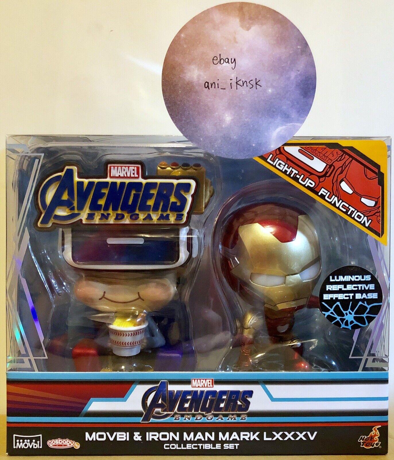 Hot Toys Cosbaby Marvel Avengers Endgame Movbi&Iron Man Mark LXXXV Set BRAND NEW