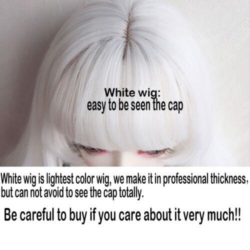 "7-8/"" 1//4 BJD Snow White Curly Hair End Long Wig LUTS Doll SD DZ DOD MSD HUAL#"