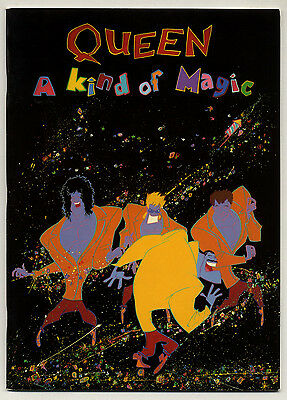QUEEN a kind of Magic UK tour programme 1986 with Ex+ condition poster + insert