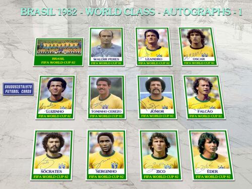 Brazil 1982 Complete Class World Cup soccer cards football 82 autograph custom